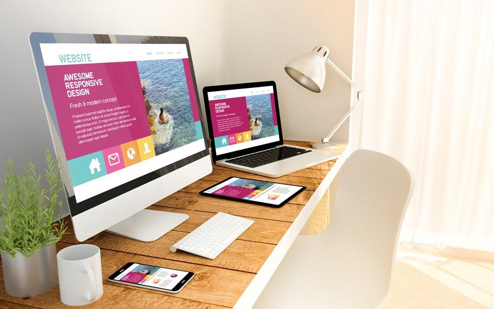 Website on desktop, iPhone and iPad