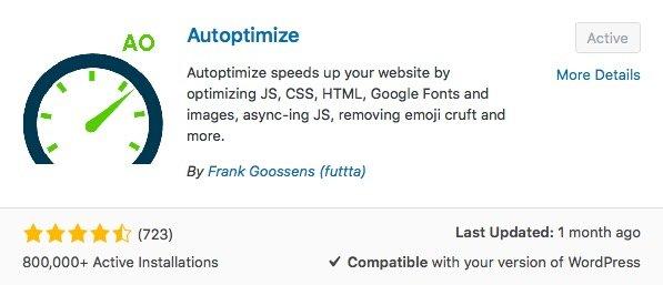 Autoptimize WordPress plugin