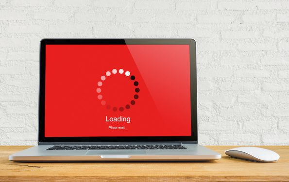 Laptop waiting while loading page